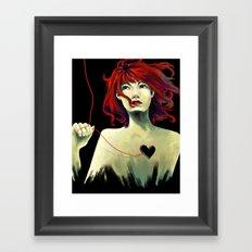 Heart String Framed Art Print