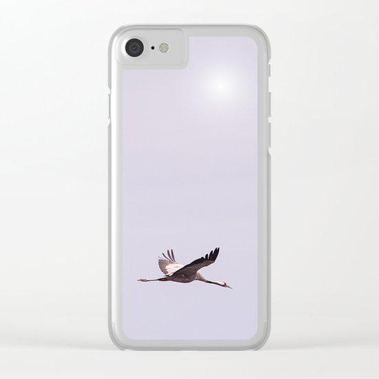 Cranes in Flight Clear iPhone Case