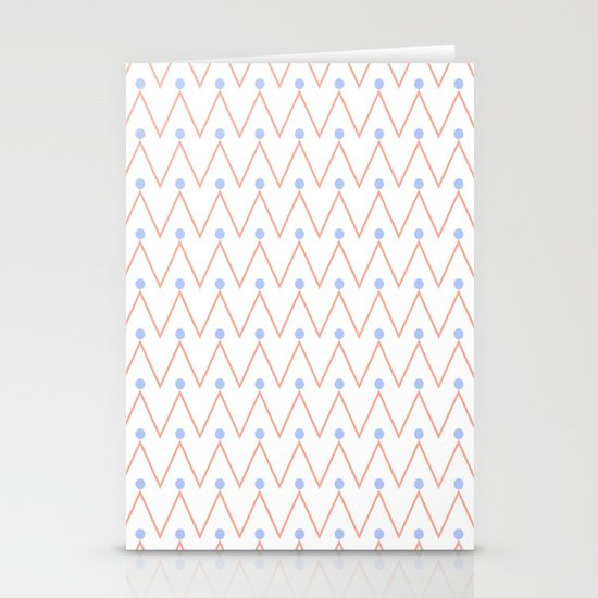 Chevron and dots 2 Stationery Cards