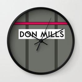 DON MILLS | Subway Station Wall Clock