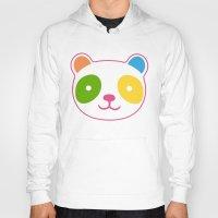 murakami Hoodies featuring Rainbow Panda by XOOXOO