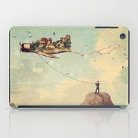 city iPad Cases featuring City Kite Afternoon by Paula Belle Flores
