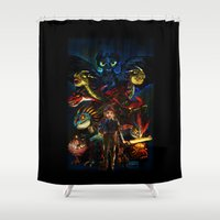 hiccup Shower Curtains featuring DRAGONS!! by Yahualli