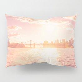 New York City Skyline Sunset Pillow Sham