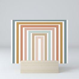 Geometric Rainbow 116 Mini Art Print