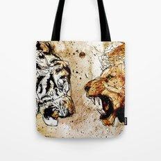 Lion vs Tiger Tote Bag