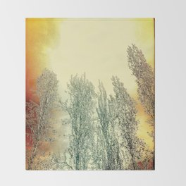 Autumn Poplars, Sunlight Dreaming About You Throw Blanket