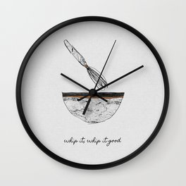 Whip It Good, Music Quote Wall Clock