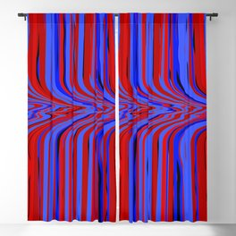 red and blue flowing Blackout Curtain