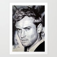 law Art Prints featuring Jude Law by Matteo Felloni Artista