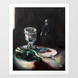 After Party in Black Art Print