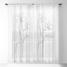 Amancay - Patagonian wildflower Sheer Curtain