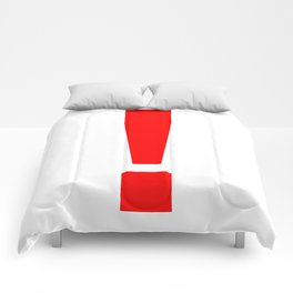 "Red Exclamation Mark ""!"" Comforters"