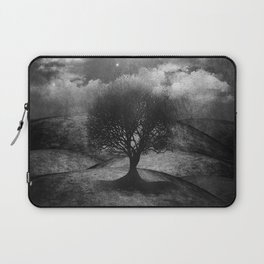 Black and white - Once upon a time... The lone tree. Laptop Sleeve