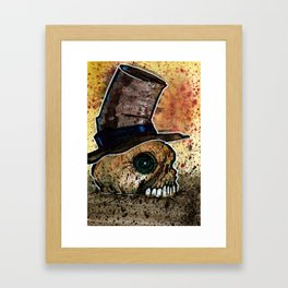 Skull in a Top Hat Framed Art Print