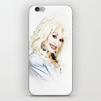 dolly parton iPhone & iPod Skins featuring Dolly Parton - Pop Art by William Cuccio aka WCSmack