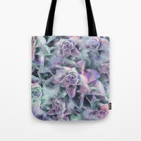 succulents Tote Bags featuring Succulents by Klara Acel