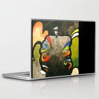captain silva Laptop & iPad Skins featuring Captain by Ecsentrik