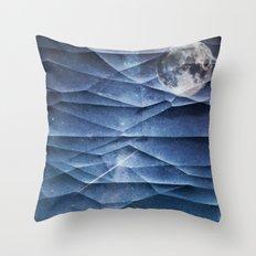 SPACE 'N MOON Throw Pillow