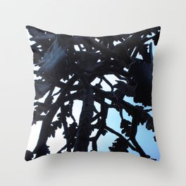 Metal Tree Throw Pillow