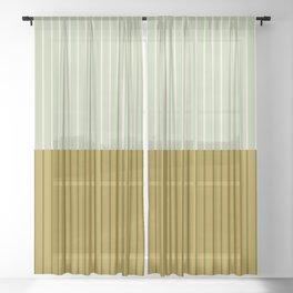 Color Block Lines XXI Moss Sheer Curtain