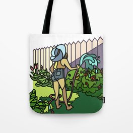 Watering Out Back Tote Bag
