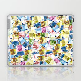 Colorful Euros Pattern - Money - LOA - Abundance - Cash Laptop & iPad Skin