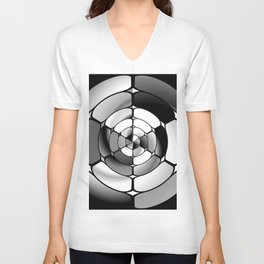 Chromed black and white Unisex V-Neck