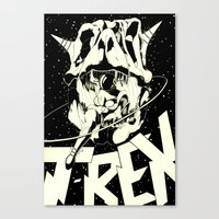 t rex Canvas Prints featuring T-REX by Miranda Sharp