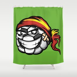 Football - Spain Shower Curtain