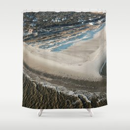 Frying Pan Shoals | South Beach & East Beach | Bald Head Island, NC Shower Curtain