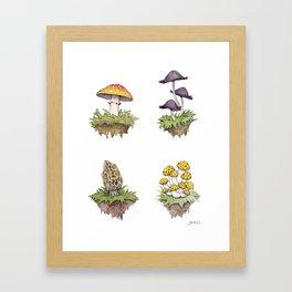 Mushroom Island Pattern Framed Art Print