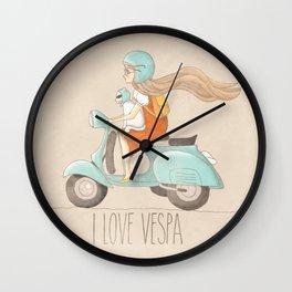 I love Vespa Wall Clock