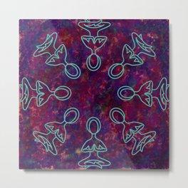 Zen Yogis Metal Print