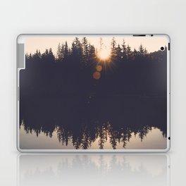 Wooded Lake Reflection  - Nature Photography Laptop & iPad Skin