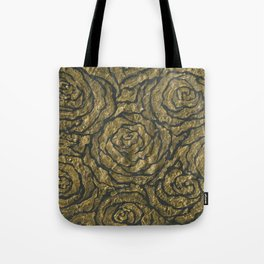 Intense Rose Print on Textured Canvas Tote Bag