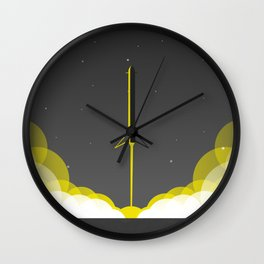 Falcon 9 Heavy Launch Wall Clock