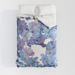 Periwinkle Flowers-Floral Design-Style 3-by Hxlxynxchxle Comforters
