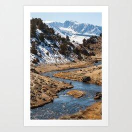 Fishing in Hot Creek Art Print