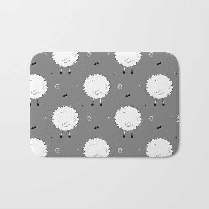 Funny sheep Bath Mat