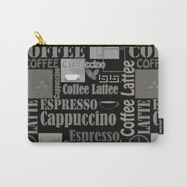 Abstract pattern . Coffee . Carry-All Pouch