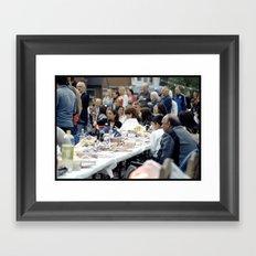 Community comes together. Framed Art Print