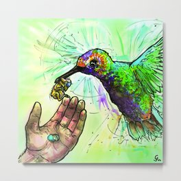 Drugs/Complex - HUMMINGBIRD Metal Print