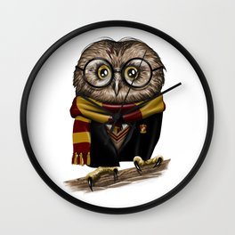 Owly Wizard Wall Clock