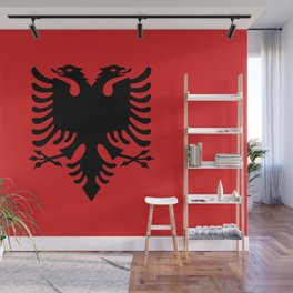 Flag of Albania - Authentic version Wall Mural