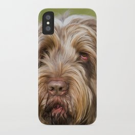 Brown Roan Italian Spinone Dog Head Shot iPhone Case