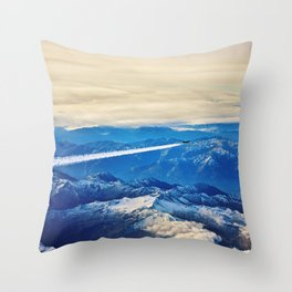 Airplane above the Clouds I Throw Pillow