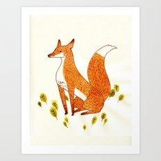 Noble Fox Art Print
