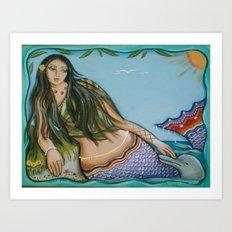 Mermaid Rest Art Print