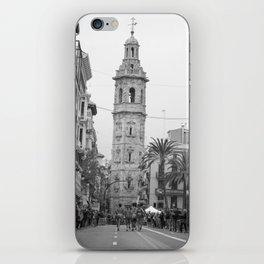 Black White Architecture in Valencia iPhone Skin